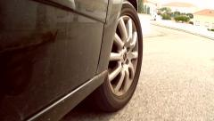 Car Mounted Camera, Recording  Tire And Road Stock Footage