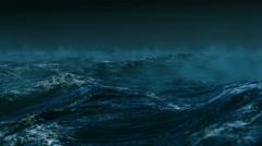 Stormy clouds over dark ocean Arkistovideo