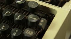 Vintage typewriter opener Stock Footage