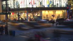 Timelapse Manhattan heavy traffic twilight busy avenue yellow taxi New York City Stock Footage