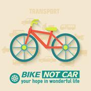 Flat bike background illustration concept. Tamplate for web and Stock Illustration