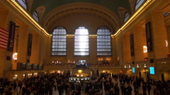 Timelapse Grand Central Terminal Main Concourse Hall New York City people travel Stock Footage
