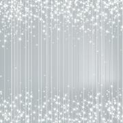 Bright Silver Background with Stars. Festive Design. New Year, C - stock illustration