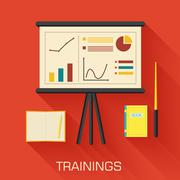 training concept design. Analytics business desk infographic wit - stock illustration