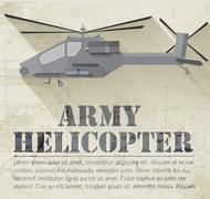 Stock Illustration of grunge military helicopter icon background concept. Vector illus