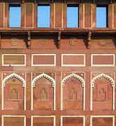 Jahangiri mahal  in the red fort in agra Stock Photos