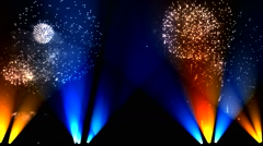 Fireworks and lights up the stage 2 Stock Footage
