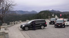 California Highway Patrolman, caught one Stock Footage