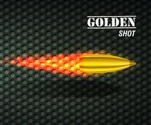 Bullet background concept. illustration Stock Illustration