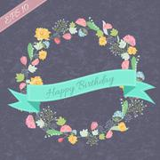 retro flower background concept. Vector illustration - stock illustration