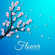 Stock Illustration of floral branch background concept. Vector illustration