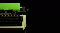 Vintage typewriter Stock Footage