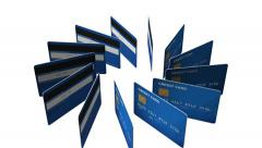 Credit card concept rotating in the space  three dimension Stock Footage
