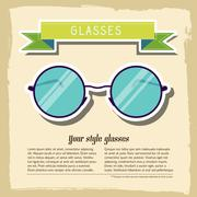 retro glasses background concept. vector illustration - stock illustration