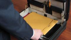 Briefcase Sort 1 - stock footage