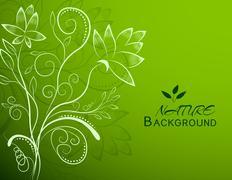 Stock Illustration of floral nature background concept. Vector illustration