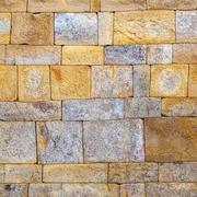 Stone wall at qutub minar, delhi india. Stock Photos