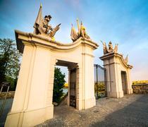 Gate at Bratislava Castle - stock photo