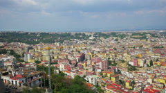 Naples from a hilltop, Italy, 4k UHD Stock Footage