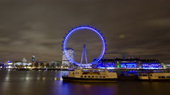 London Eye 4k timelapse Stock Footage