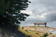 Hermitage of san adrian, in urbasa Stock Photos