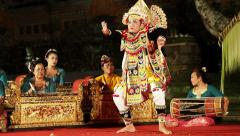 Balinese Baris Warrior Dance Performance in Ubud, Bali, Indonesia - stock footage