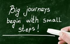 Stock Illustration of big journeys begin with small steps!