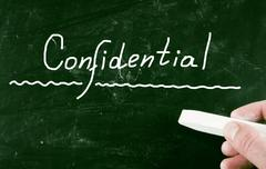 Confidential concept Stock Illustration
