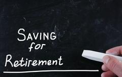 saving for retirement - stock illustration