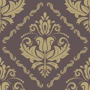 Orient Seamless  Pattern. Abstract Background - stock illustration