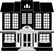 House in classical style - stock illustration