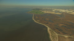 Aerial San Francisco Coastal Bay Sulphur Creek USA Stock Footage