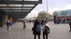 Kings Cross Mainline Railway Station, London - stock footage