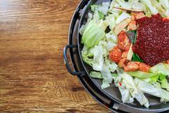 seasoning of korean food - stock photo