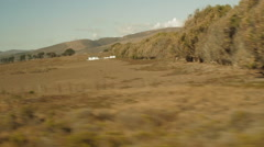 Traveling on a train, point of view out window-01 Stock Footage