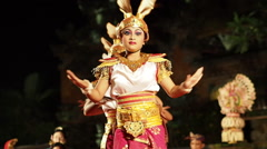 Balinese Rabbit Dance Performance in Ubud, Bali, Indonesia - stock footage
