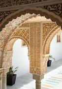 Alhambra of poble espanyol in palma de mallorca Stock Photos