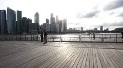 Singapore City Skyline Stock Footage
