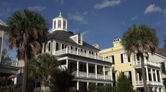 Antebellum houses, south battery, charleston, sc, usa Stock Footage