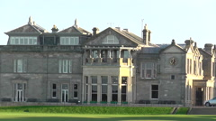 Royal and Ancient Club House St Andrews Scotland Stock Footage