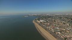 Stock Video Footage of Aerial Alameda Shoreline San Francisco California USA