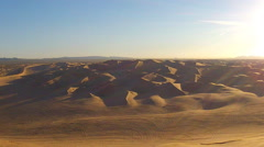 Off Road Vehicle Tracks In Algodones Sand Dunes- Glamis CA Stock Footage