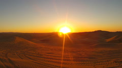 Sun Rising Over Algodones Sand Dunes State Recreation Area Stock Footage