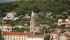 View of Hvar city in Croatia Stock Footage