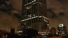 New York Empire State Building at night - stock footage
