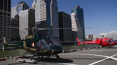 New York heliport.mp4 Stock Footage