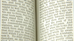 Book old words middle timelapse short Stock Footage