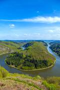Saar loop at cloef. a famous view point. Stock Photos