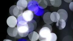 Bokeh flashlight reflection - stock footage