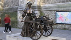 Molly Malone statue Stock Footage